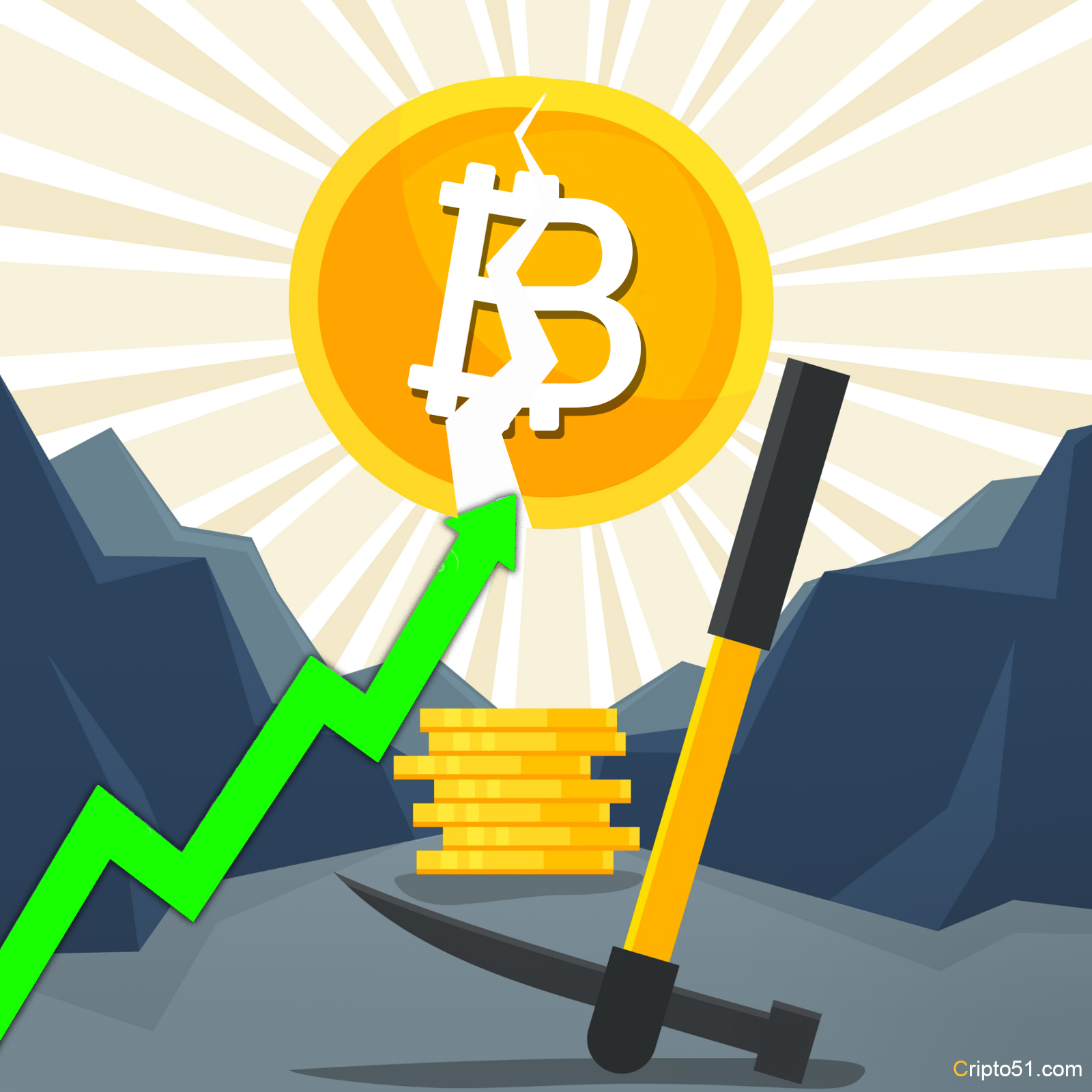 The effect of halving will raise the price of bitcoin