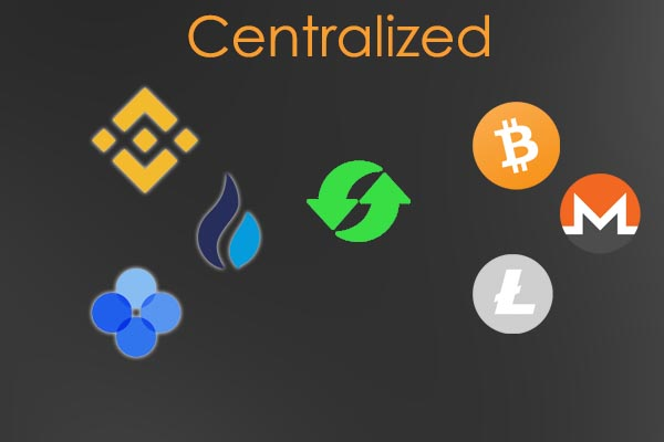 exchange for cryptocurrencies with centralized operation