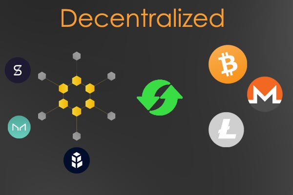 exchange for cryptocurrencies with decentralized functioning